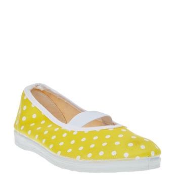Cvičky s puntíky bata, žlutá, 379-8103 - 13