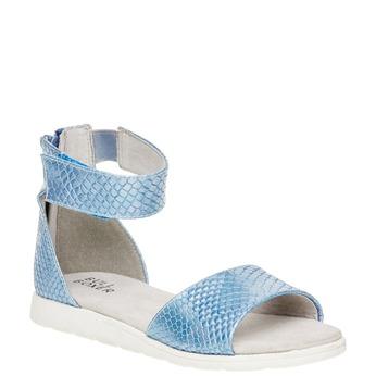 Sandály s páskem kolem kotníku bull-boxer, modrá, 421-9002 - 13