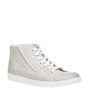Kožené kotníčkové tenisky bata, bílá, 524-1310 - 13