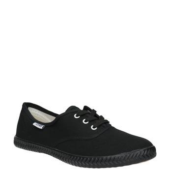 Černé textilní tenisky tomy-takkies, černá, 519-6691 - 13