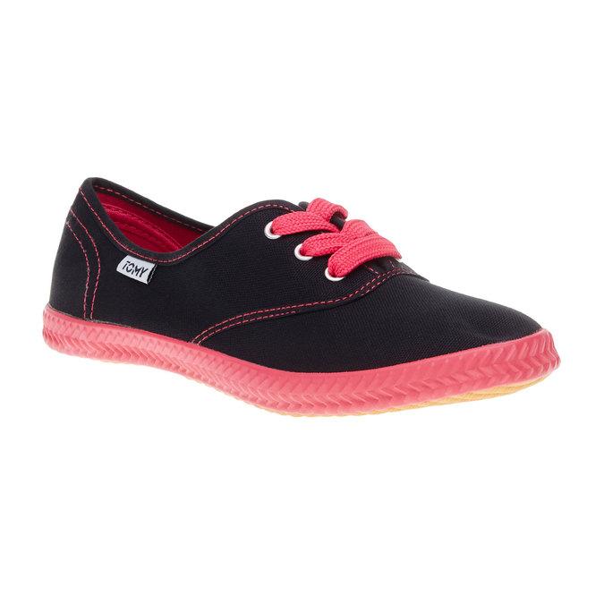 Černé textilní tenisky tomy-takkies, černá, 519-6109 - 13