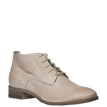 Dámské kožené kotníčkové boty bata, béžová, 524-8468 - 13