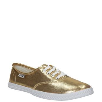 Zlaté dámské tenisky tomy-takkies, zlatá, 519-8690 - 13