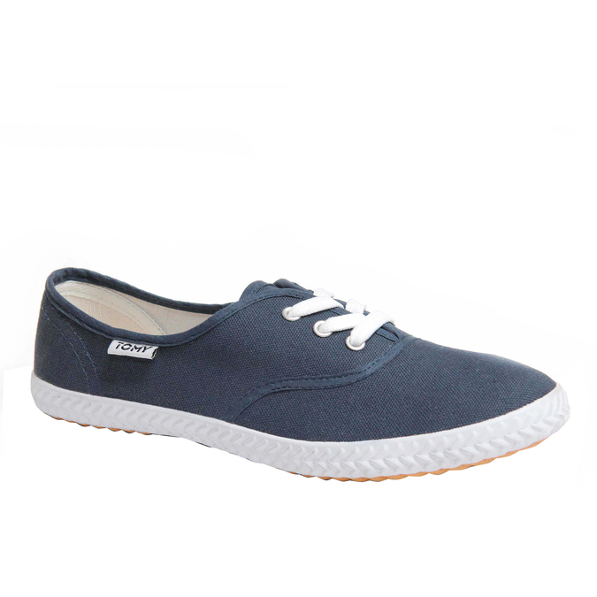 Plátěné tenisky tomy-takkies, modrá, 519-9105 - 13