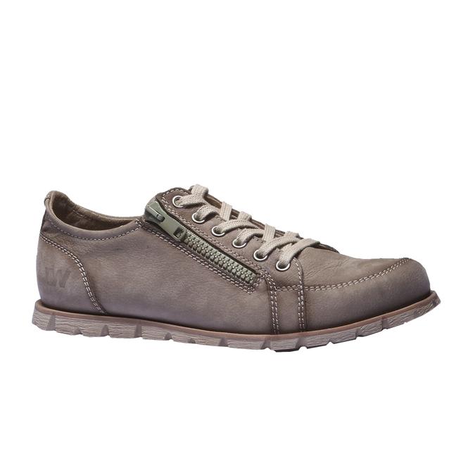 Designová kožená obuv weinbrenner, hnědá, 544-4150 - 13