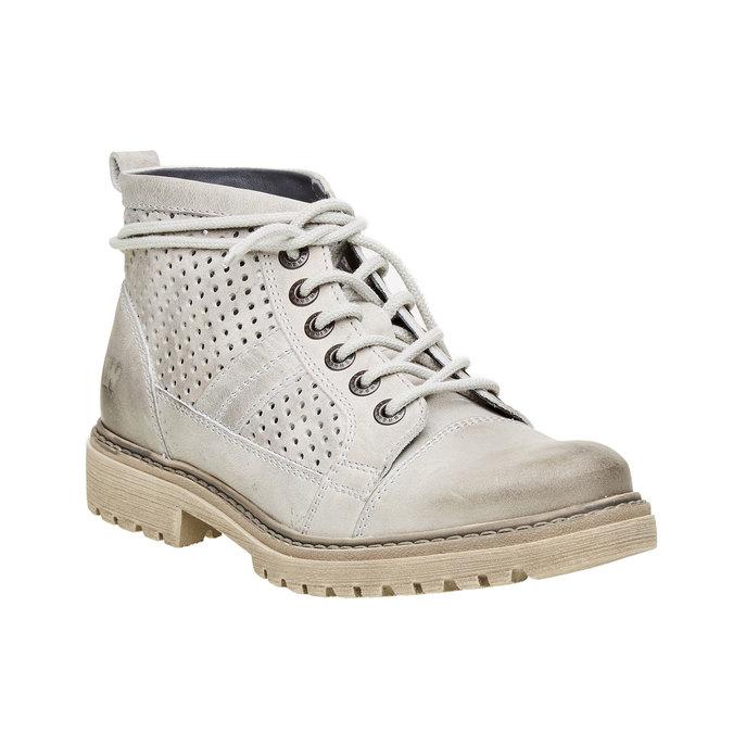 Kožené kotníčkové boty weinbrenner, šedá, 594-2138 - 13