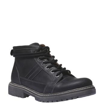Kožená obuv s originálními tkaničkami weinbrenner, černá, 594-6409 - 13