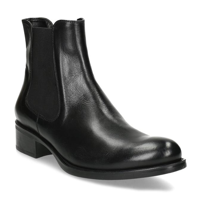 Dámská kožená černá Chelsea obuv bata, černá, 594-6448 - 13