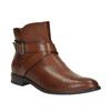 Kožená kotníčková obuv s přezkou bata, hnědá, 594-4602 - 13