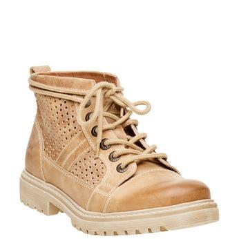 Kožené kotníčkové boty weinbrenner, hnědá, 594-4138 - 13