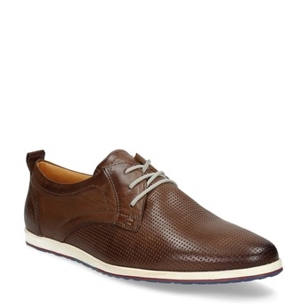 Ležérní kožené tenisky bata, hnědá, 824-4124 - 13