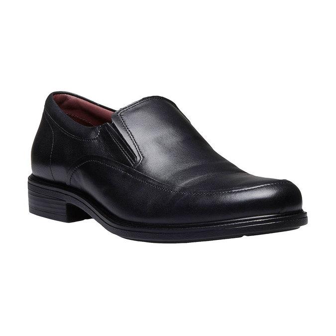 Komfortní polobotky z kůže bata-comfit, černá, 814-6934 - 13