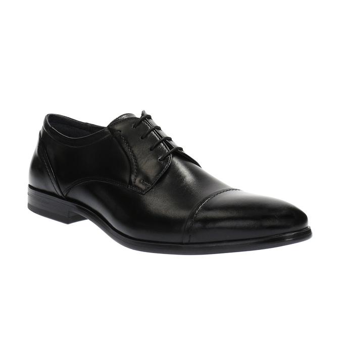 Pánské kožené polobotky bata, černá, 824-6710 - 13