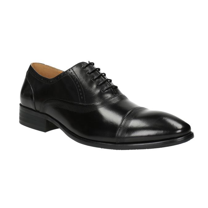 Kožené polobotky v Oxford střihu bata, černá, 824-6642 - 13