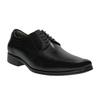 Černé kožené polobotky bata, černá, 824-6724 - 13