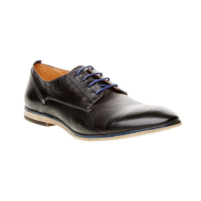 Kožené polobotky v Derby stylu bata, černá, 824-6605 - 13