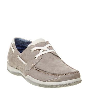 Ležérní kožené mokasíny bata, šedá, 856-2176 - 13