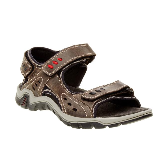 Pánské kožené sandály weinbrenner, hnědá, 866-2105 - 13