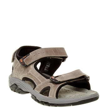 Pánské kožené sandály weinbrenner, hnědá, 866-6107 - 13