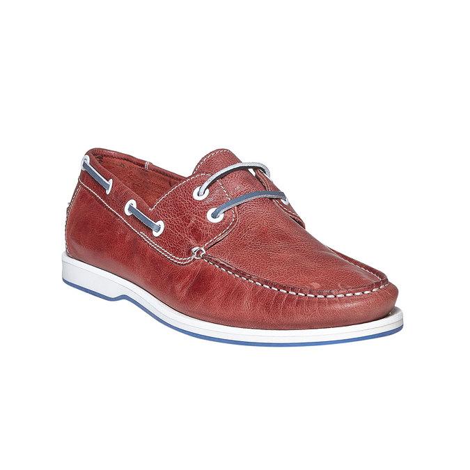 Pánské kožené mokasíny bata, červená, 854-5188 - 13