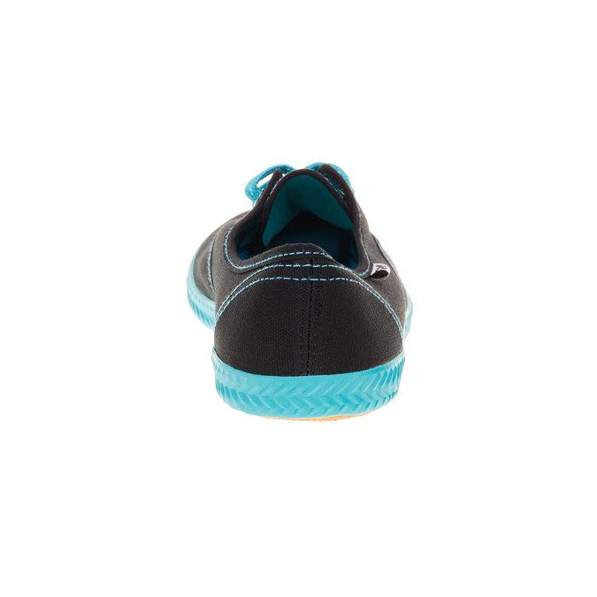 Černé textilní tenisky tomy-takkies, černá, 519-6110 - 17