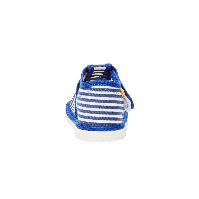 Dětská domácí obuv bata, modrá, 179-9102 - 17