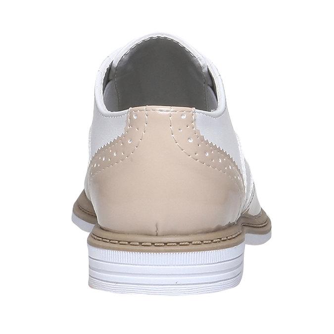 Dětské polobotky ve stylu Spectator shoes mini-b, béžová, 321-5178 - 17