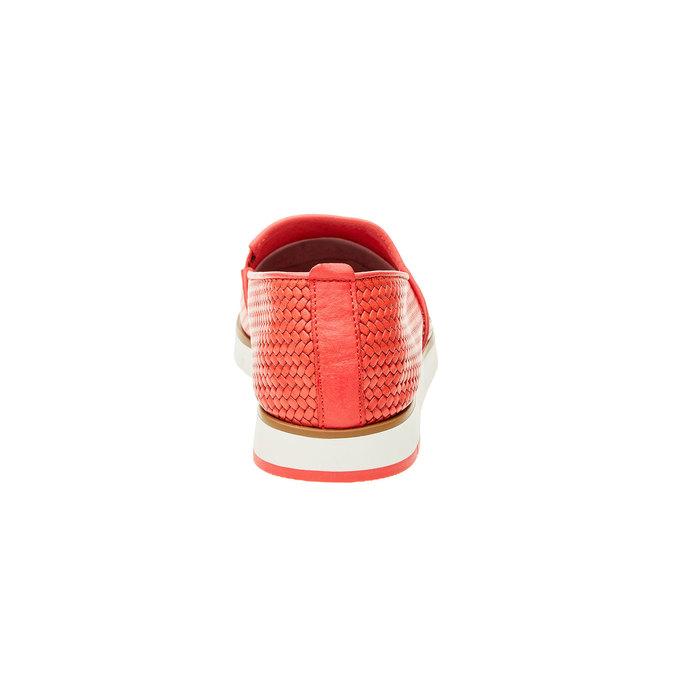 Dámské Slip on s pleteným vzorem flexible, červená, 515-5203 - 17