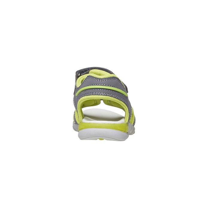 Dětské sandály s koženými pásky mini-b, šedá, 264-2166 - 17