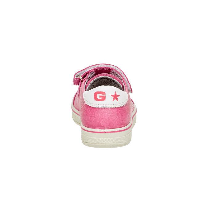 Dětské kožené tenisky mini-b, růžová, 223-5120 - 17
