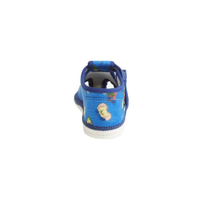 Dětská domácí obuv ke kotníkům bata, modrá, 179-9210 - 17