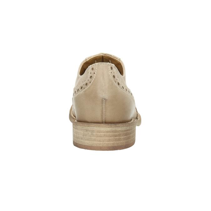 Dámské kožené polobotky se zdobením bata, béžová, 524-8482 - 17