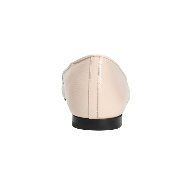 Dámské kožené baleríny bata, růžová, 528-5630 - 17