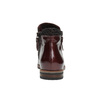 Kožená kotníčková obuv se zipy bata, červená, 596-5605 - 17