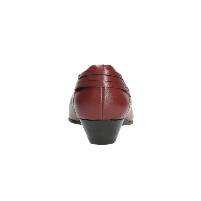 Kožené lodičky na nízkém podpatku bata, červená, 624-5603 - 17