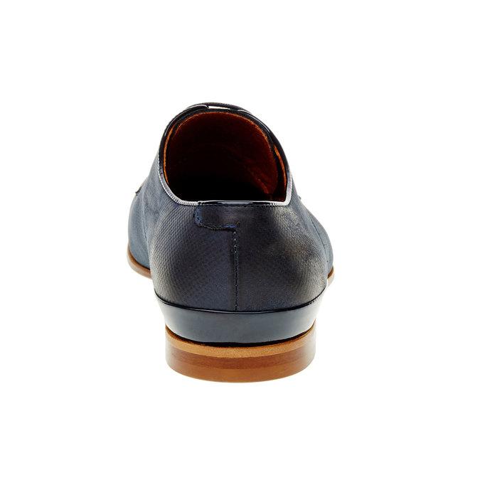 Pánské kožené polobotky conhpol, modrá, 826-9198 - 17