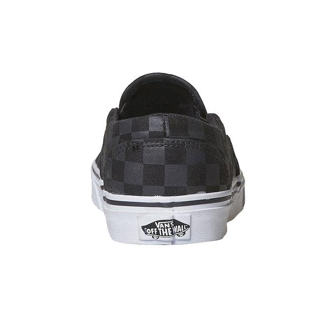Dámská Slip-on obuv se vzorem vans, černá, 589-6288 - 17