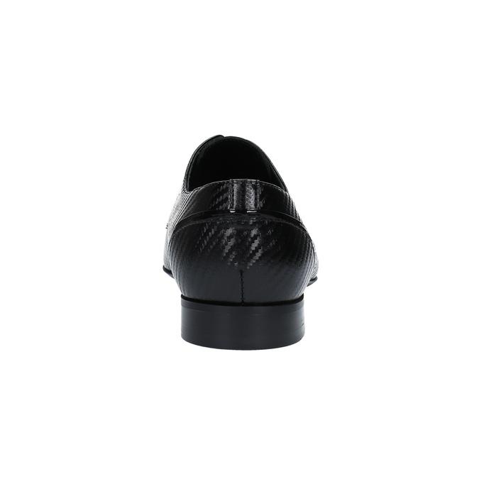 Kožené polobotky se vzorem conhpol, černá, 826-6730 - 17