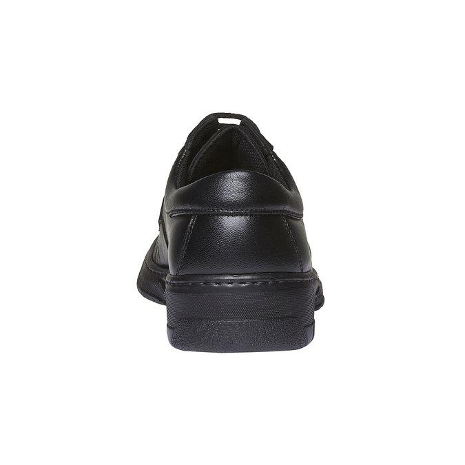Kožená obuv pinosos, černá, 824-6760 - 17
