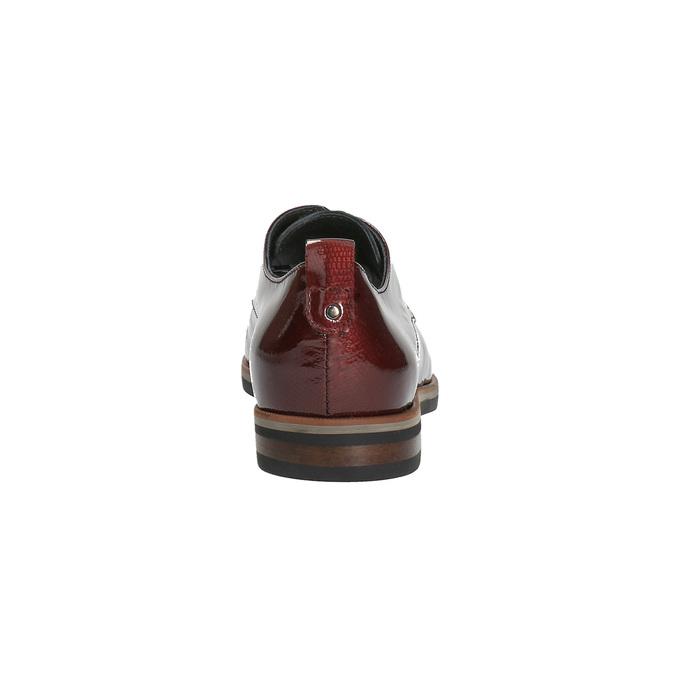 Dámské Derby polobotky bata, červená, 528-5600 - 17
