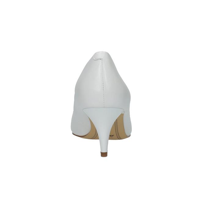 Bílé kožené lodičky bata, bílá, 624-1630 - 17