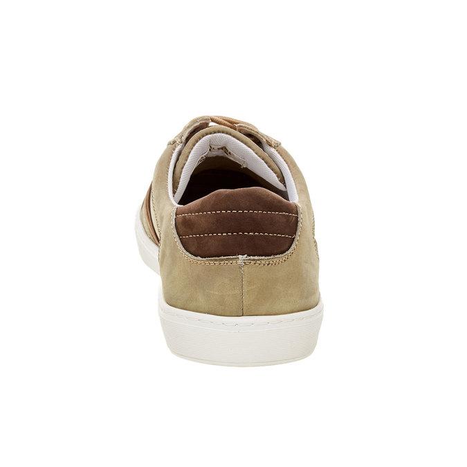 Ležérní kožené tenisky bata, hnědá, 846-7638 - 17