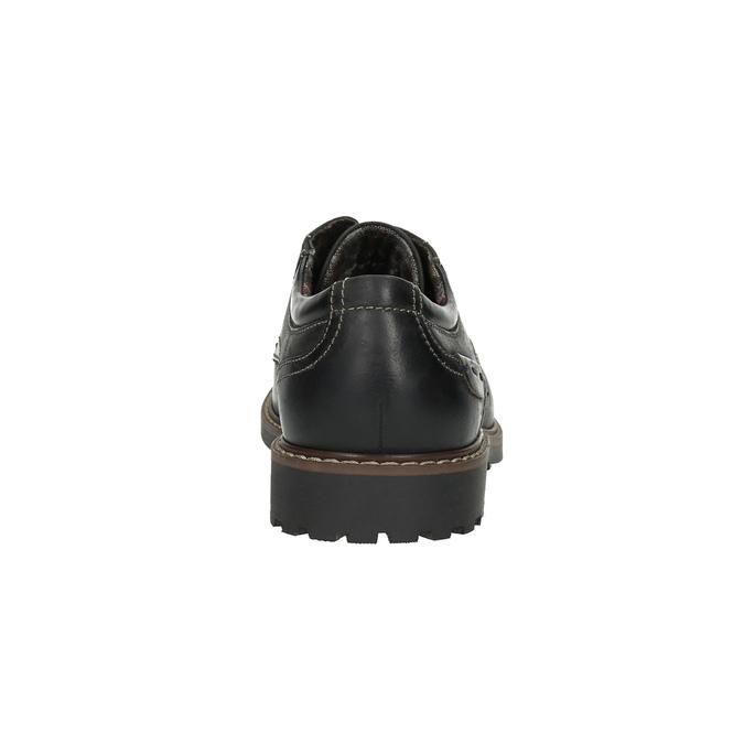 Kožené polobotky s výraznou podešví bata, černá, 826-6641 - 17