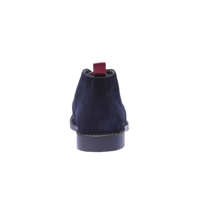 Kožené Chukka boty bata, modrá, 893-9245 - 17