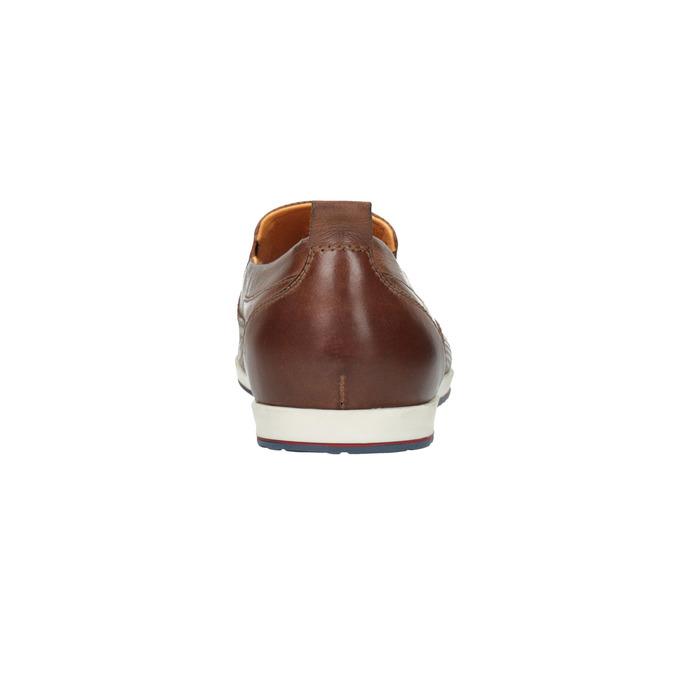 Pánské kožené Slip on boty bata, hnědá, 814-4148 - 17