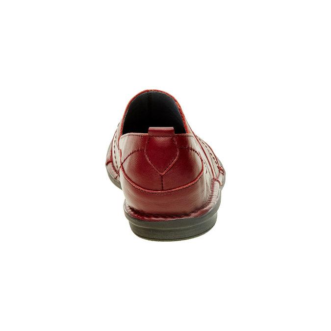 Dámská kožená obuv bata, červená, 556-5100 - 17