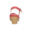 Kožené sandály na nízkém podpatku bata-touch-me, červená, 666-5203 - 17