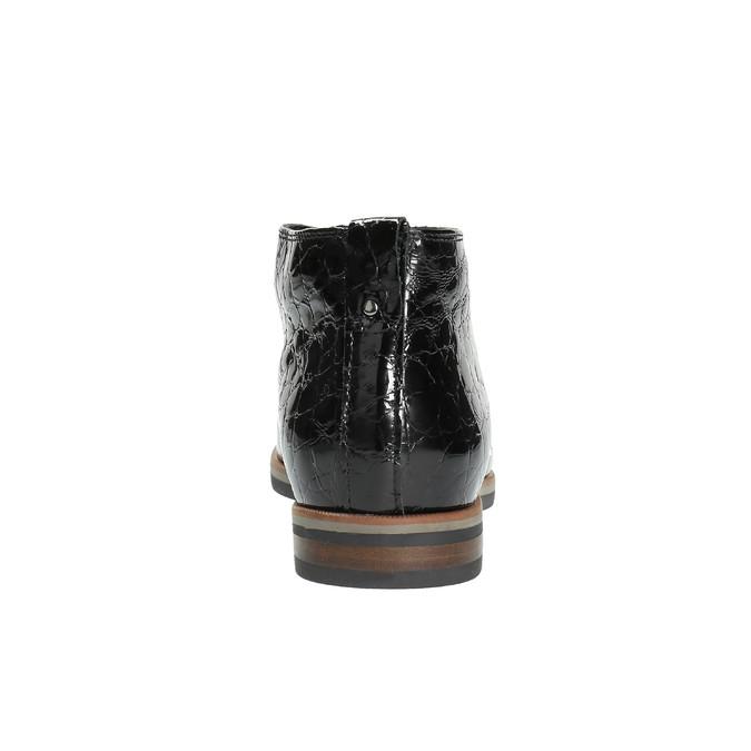 Dámské kožené polobotky ke kotníkům bata, černá, 598-6601 - 17