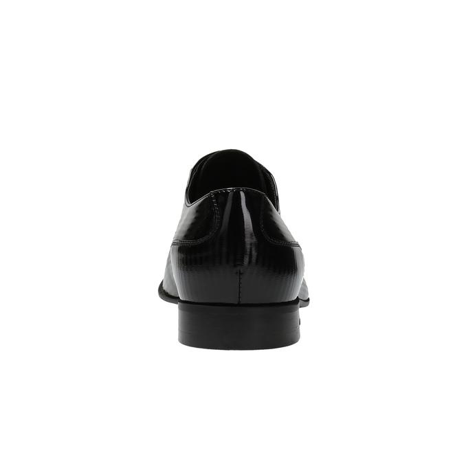 Pánské polobotky z lakované kůže conhpol, černá, 826-6728 - 17