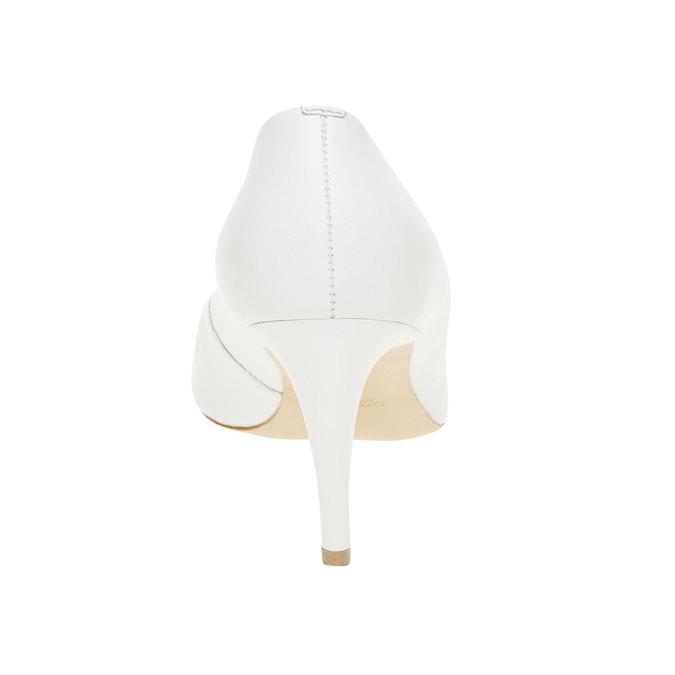Bílé kožené lodičky bata, bílá, 724-1400 - 17